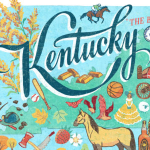 Detail of Kentucky illustration by Chandler O'Leary