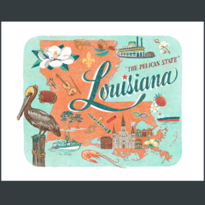 Louisiana illustration by Chandler O'Leary