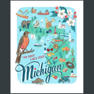 Michigan illustration by Chandler O'Leary
