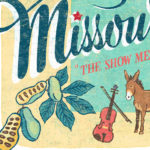 Detail of Missouri illustration by Chandler O'Leary