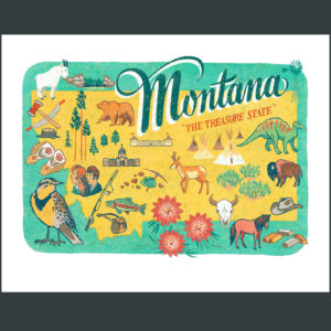 Montana illustration by Chandler O'Leary