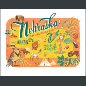 Nebraska illustration by Chandler O'Leary