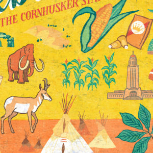 Detail of Nebraska illustration by Chandler O'Leary