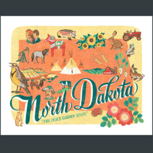 North Dakota illustration by Chandler O'Leary