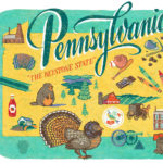 Detail of Pennsylvania illustration by Chandler O'Leary