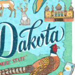 Detail of South Dakota illustration by Chandler O'Leary