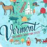 Detail of Vermont illustration by Chandler O'Leary
