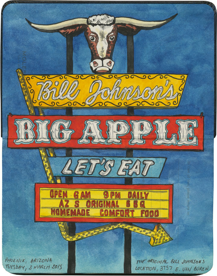 Bill Johnson's Big Apple sketch by Chandler O'Leary