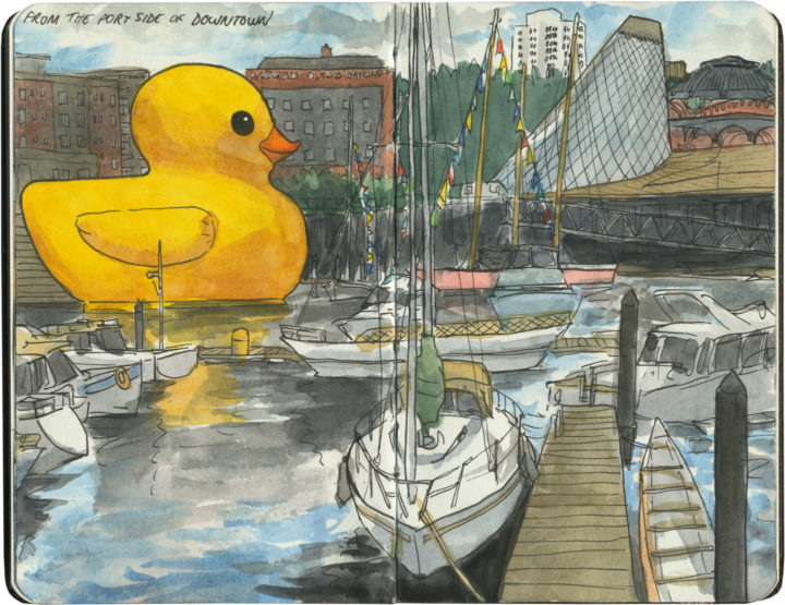 World's Largest Rubber Ducky sketch by Chandler O'Leary