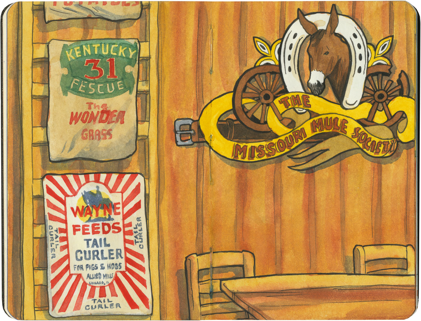 Missouri Hick BBQ sketch by Chandler O'Leary