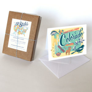 Colorado card from the 50 States series illustrated and hand-lettered by Chandler O'Leary