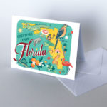 Florida card from the 50 States series illustrated and hand-lettered by Chandler O'Leary