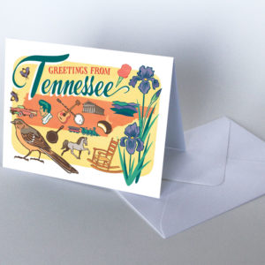 Tennessee card from the 50 States series illustrated and hand-lettered by Chandler O'Leary