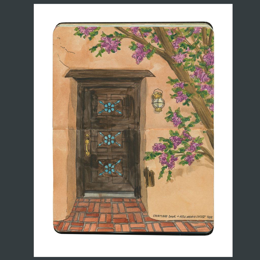 Albuquerque sketchbook print by Chandler O\u0027Leary & Albuquerque Door Sketch \u2013 Drawn the Road Again