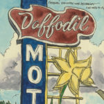 Daffodil Motel sketchbook print by Chandler O'Leary