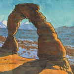Delicate Arch sketchbook print by Chandler O'Leary