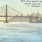 Golden Gate sketchbook print by Chandler O'Leary