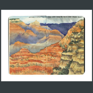 Grand Canyon sketchbook print by Chandler O'Leary