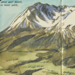 Mount Saint Helens sketchbook print by Chandler O'Leary