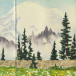 Mount Rainier sketchbook print by Chandler O'Leary