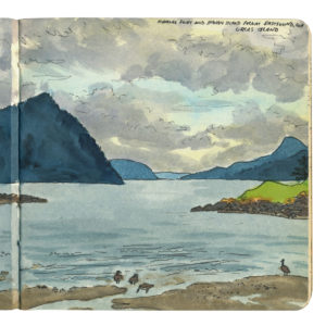 Orcas Island sketchbook print by Chandler O'Leary