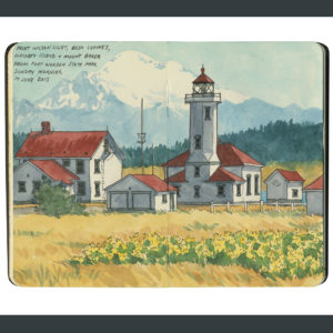 Point Wilson Lighthouse sketchbook print by Chandler O'Leary