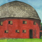 Route 66 Round Barn sketchbook print by Chandler O'Leary