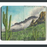 Saguaro National Park sketchbook print by Chandler O'Leary