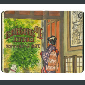 Seattle Panama Hotel sketchbook print by Chandler O'Leary