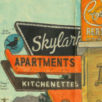 Skylark Kitchenettes sketchbook print by Chandler O'Leary