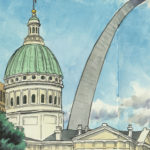Saint Louis Arch sketchbook print by Chandler O'Leary