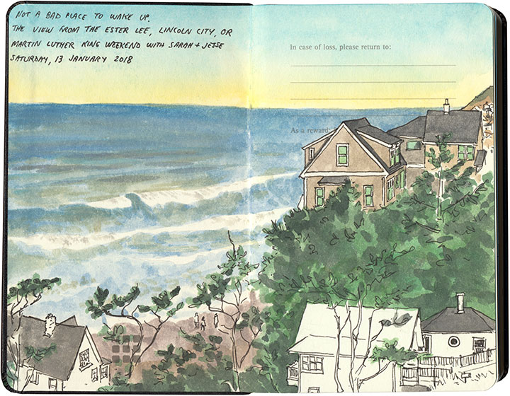 Lincoln City sketch by Chandler O'Leary